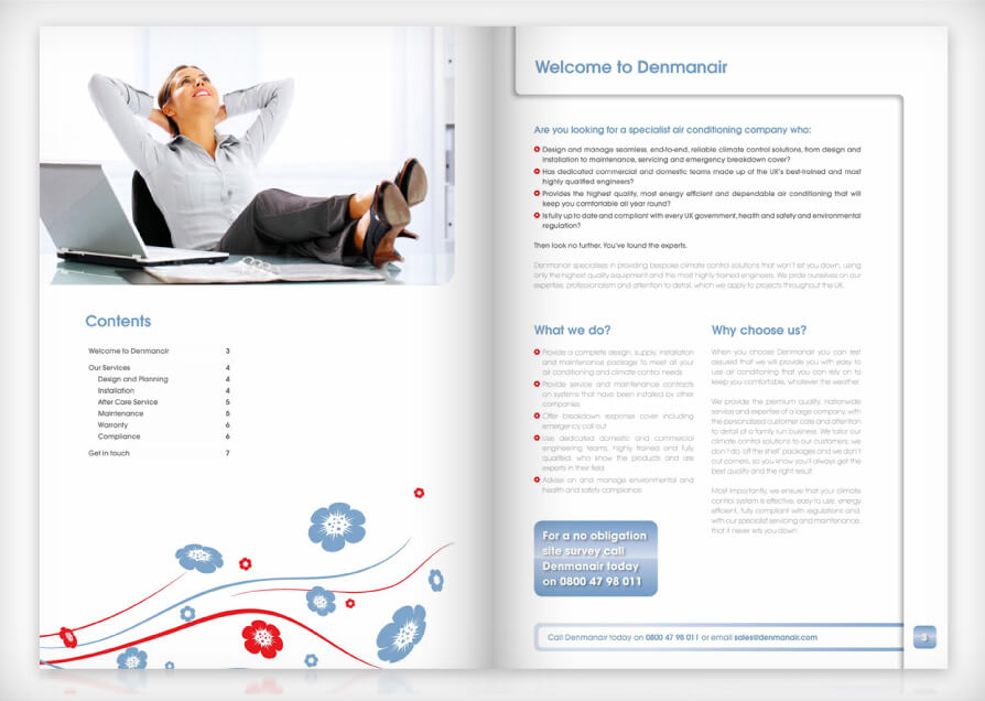 air conditioning brochure design