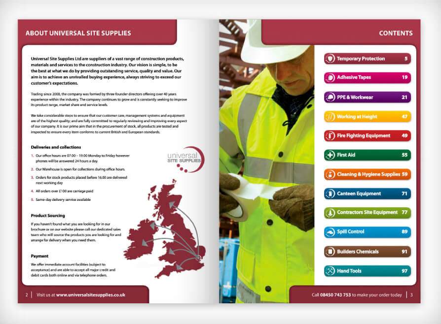 construction products products brochure design and print