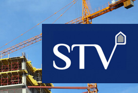 Construction rebranding for STV Contractors by Exubra