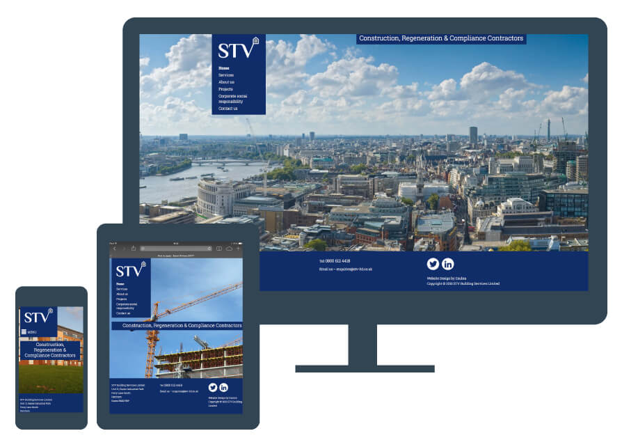 Professional Brand Identity for STV Construction Contractors